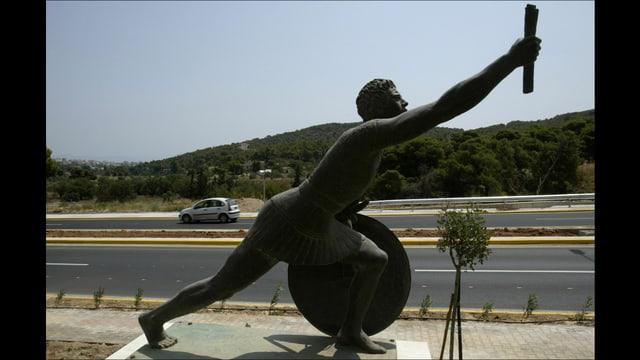 Statue des Pheidippides in Athen