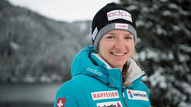 Die Luzerner Langläuferin Nadine Fähndrich will an den nächsten Olympischen Spielen teilnehmen.