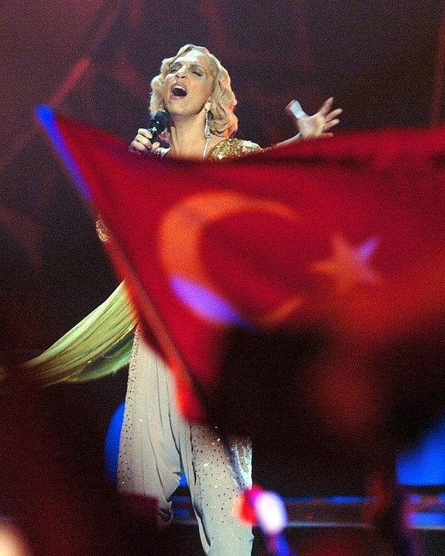 Türkische Flagge im Publikum