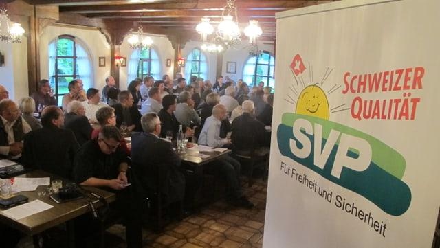 Die Delegierten der SVP Kanton Solothurn währen in Härkingen einen neuen Präsidenten.