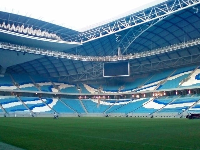 Das WM-Stadion Al Janoub Stadium in Al-Wakrah, Katar.