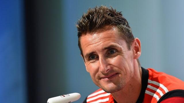 WM-Rekordtorschütze Miroslav Klose macht nach der WM möglicherweise weiter.