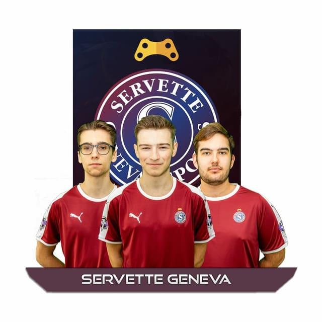 Team Servette Geneva mit Logo und Fotos
