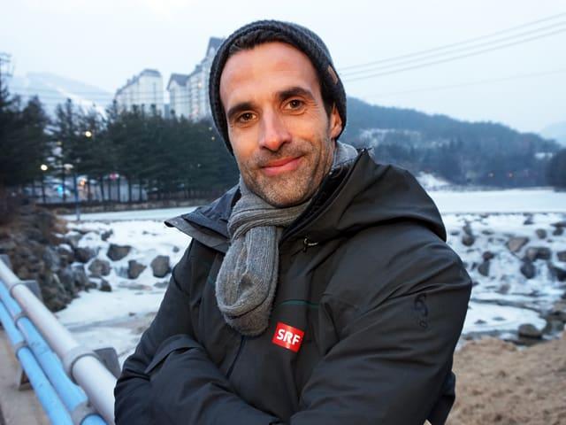 An diesem See kam ich jeden Tag vorbei. Er liegt nämlich direkt beim House of Switzerland, von wo aus ich jeden Tag auf Sendung ging. Brr!