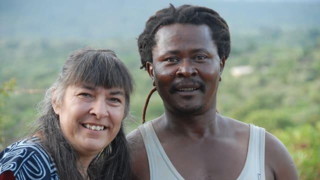 Lächeln für die Kamera: Katharina und Marcelin.