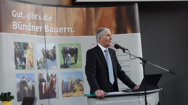 Hansjörg Hassler, il president da l'Uniun purila grischuna.