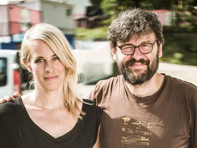Barbara Weber mit Markus Acher von The Notwist.