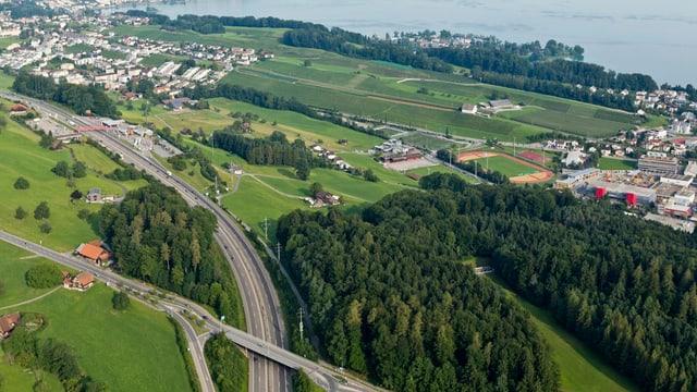 Der Halbanschluss Halten bei Freienbach.