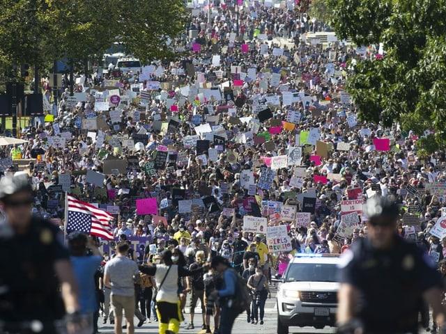 Grosser Protestzug in Washington.