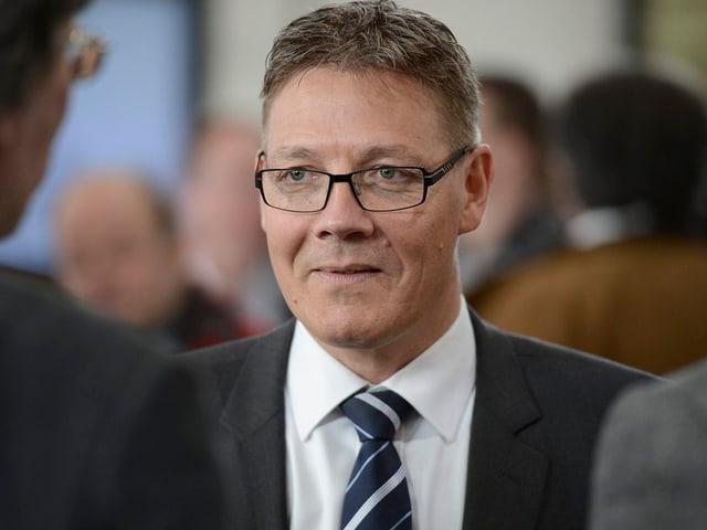 Roland Fürst im Solothurner Wahlzentrum am 3. März.