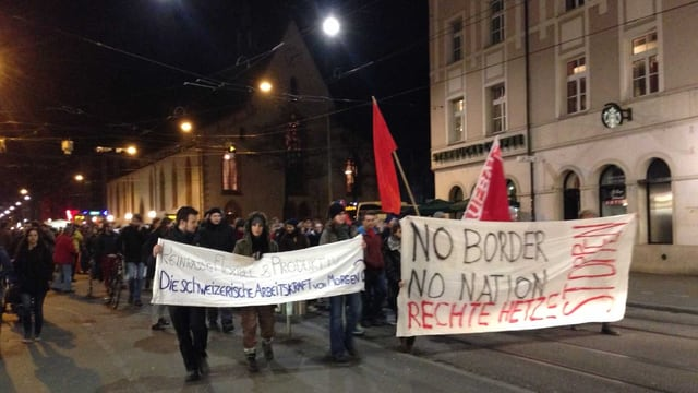 Demonstranten in Basel.