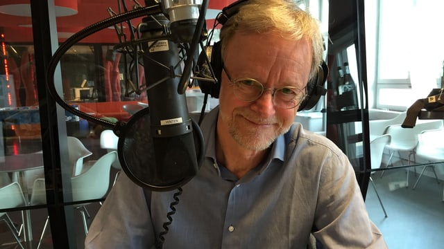 Casper Selg im Radiostudio.