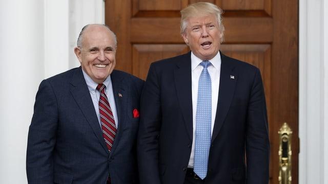 Rudy Giuliani und Donald Trump.