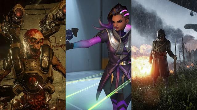 Doom, Overwatch und Battlefield 1