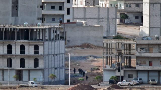 Blick auf Kobane.