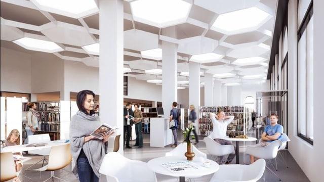 Visulalisierung Stadtbibliothek