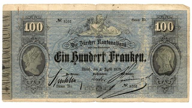 Alte Zürcher Banknote