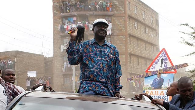 Oppositionsführer Odinga bei einer Kundgebung.