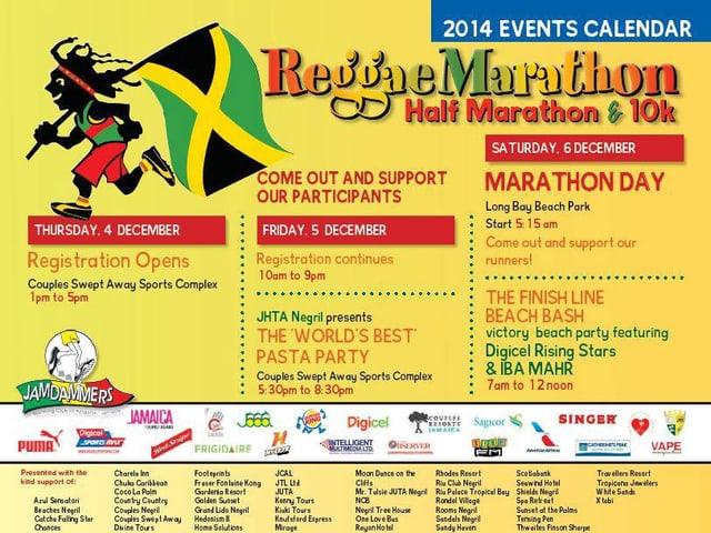 Programm des «Reggae Marathon» in Jamaika