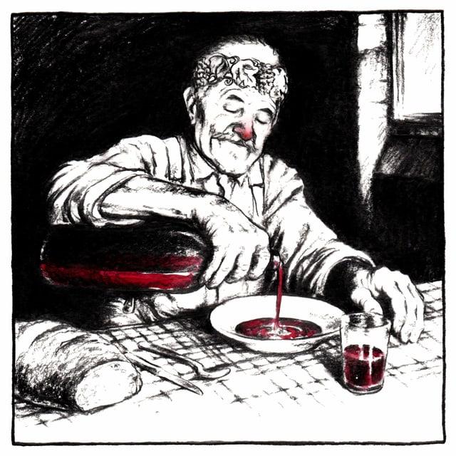 caricatura, in um che derscha vin en in taglier
