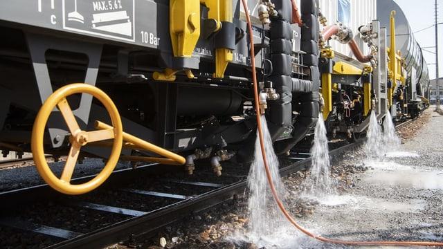 Heisswasserspritzzug der SBB.