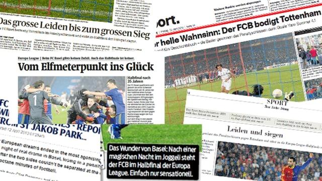 Die Schweizer Presse würdigt die Leistung des FC Basel.