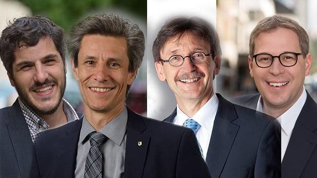 Die vier bisherigen Stadträte.