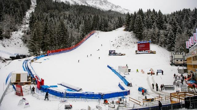 L'arrivada da las cursas da skis a Wengen
