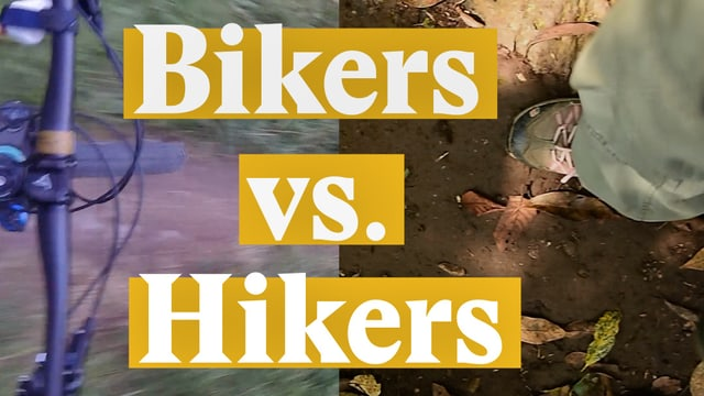Laschar ir video «Bikers vs. Hikers»