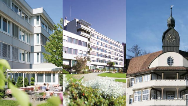 Die drei Standorte des Ausserrhoder Spitalverbunds