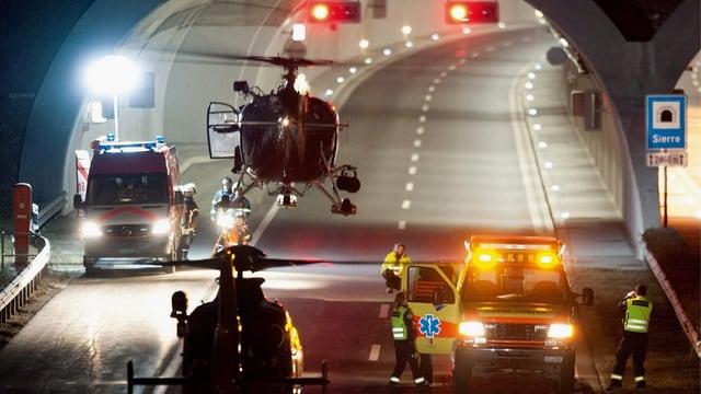 Tunneleingang von Siders beim Unfall.