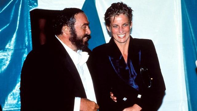 Luciano Pavarotti mit Lady Diana.