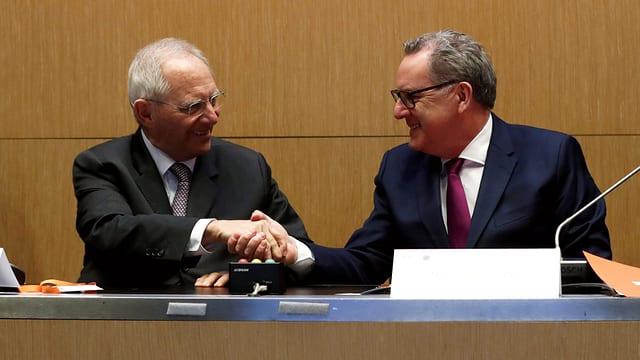 Schäuble und Ferrand.