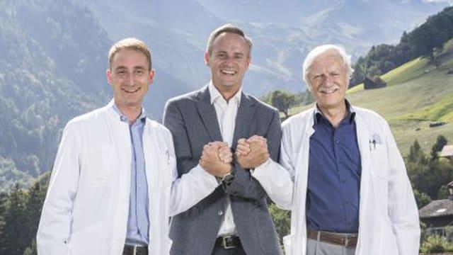 Da sanester: Roman Gonzenbach, Till Hornung e Jürg Kesselring.