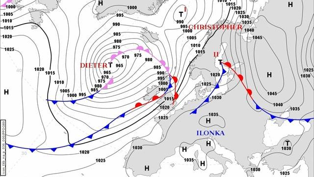 Bodenwetterkarte Europa für den 23. Februar 2021