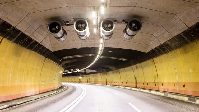 Il tunnel dadens cun ventilaziun.