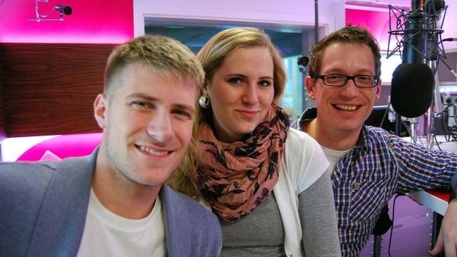 Die junge Fraktion der Heilsarmee Band: Jonas Gygax, Sarah Breiter und Christoph Jakob.