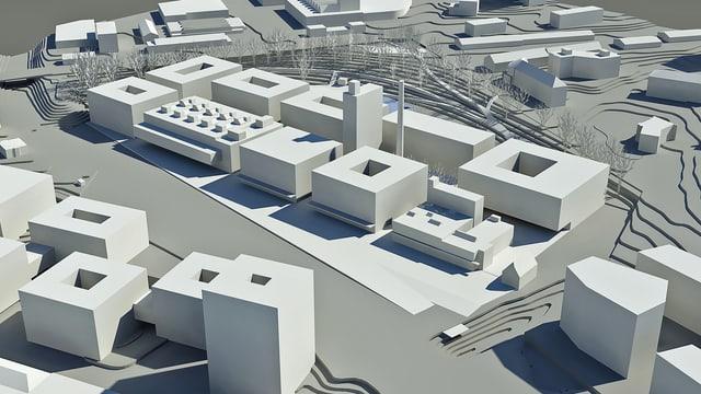 10 neue Gebäude bilden das Herzstück des zukünftigen Innovations- und Technologiepark im Herzen Freiburgs.