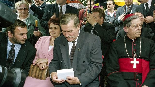 1994 war der polnische Staatspräsident Lech Walesa zu Besuch im Polenmuseum Rapperswil.
