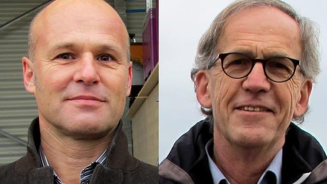 Andreas Balg und Peter Gubser in einer Nahaufnahme