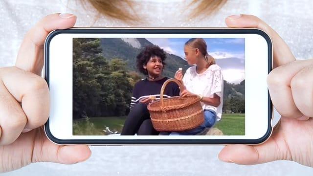 Foto auf einem Smartphone.