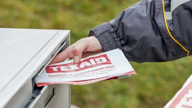 Pöstler steckt Texaid-Sack in Briefkasten