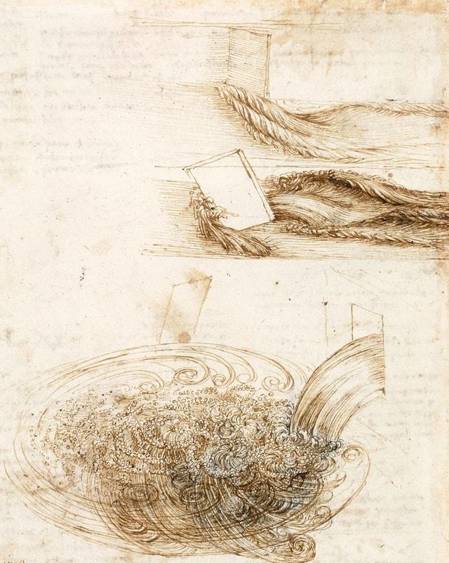Skizzen von da Vinci: Wellen und Wasser