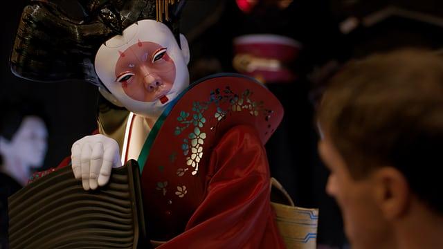 Eine Roboter-Geisha aus der nahen Zukunft.