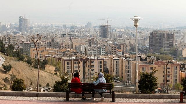 Blick auf Teheran.