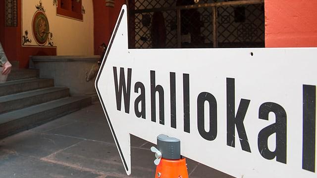 Schild Wahllokal