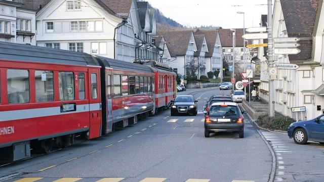 Appenzellerbahn in Teufen