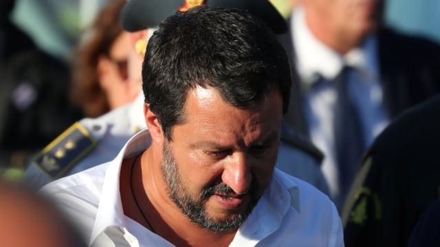Matteo Salvini il minister dal intern da l'Italia fa squitsch sin il gestiunari.