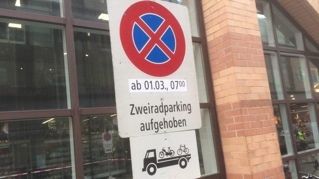 Parkverbot für Velos ab 1.3.