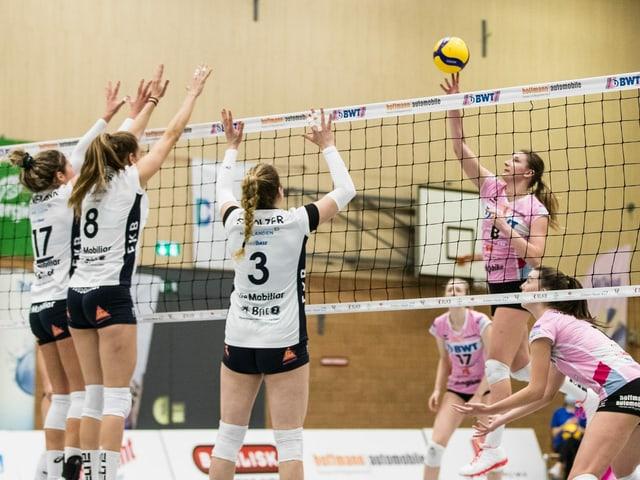 Szene aus einem Volleyball-Spiel.